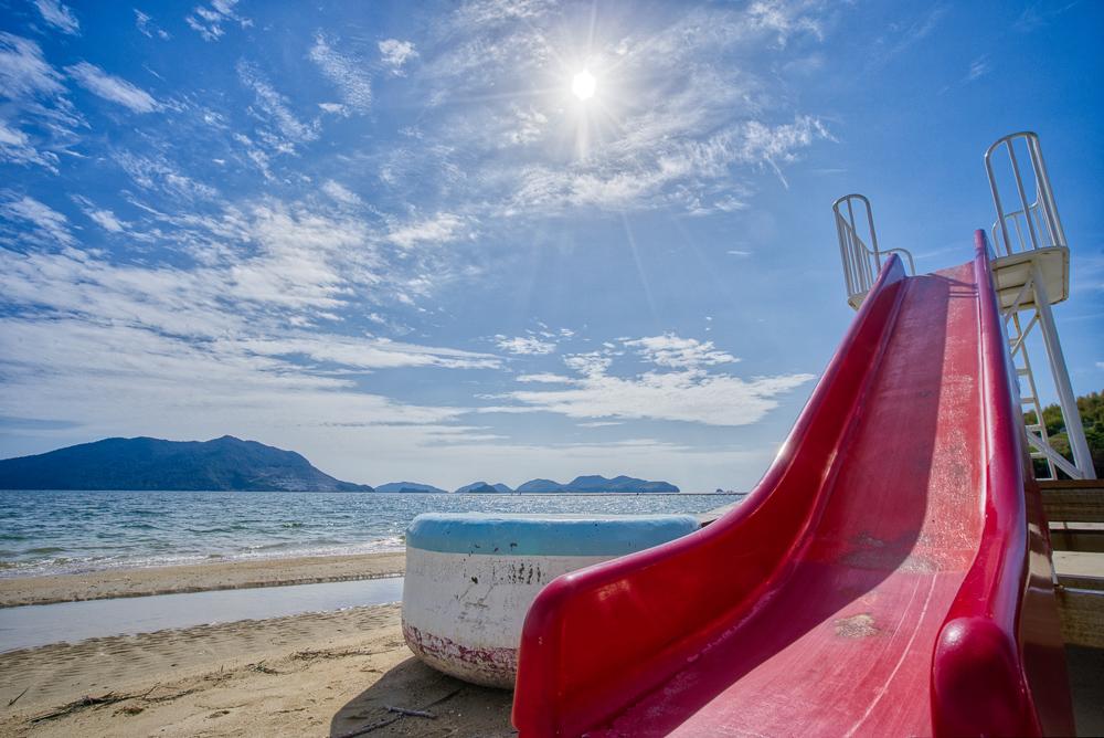 長田海浜公園 滑り台