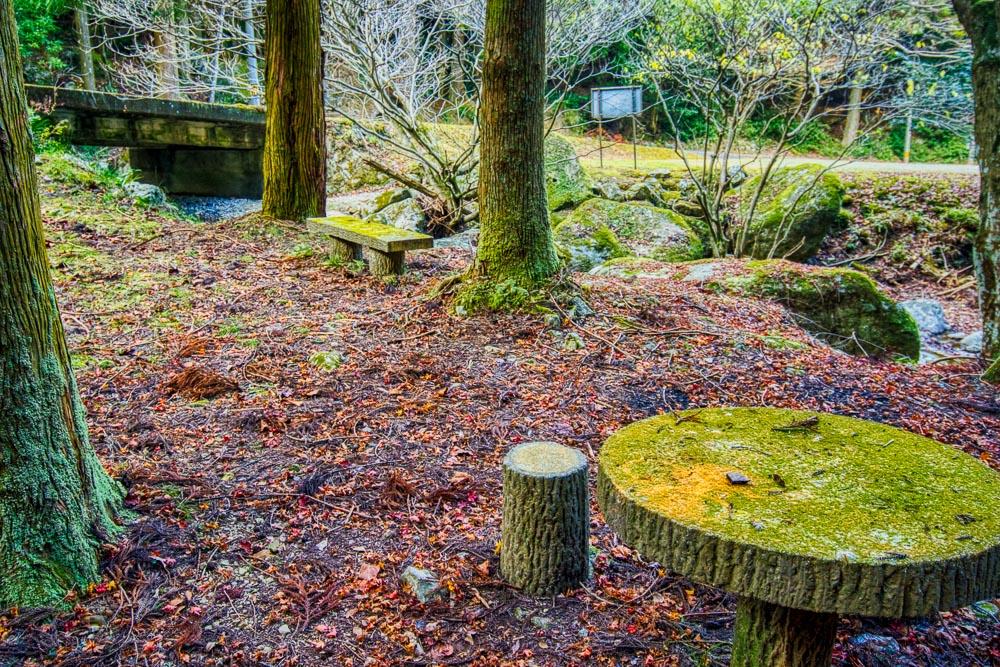 林間キャンプ場 テーブル