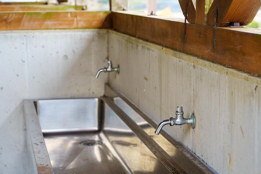 粟野川河川公園 施錠された水道