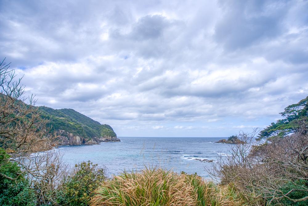 須佐湾エコロジーキャンプ場 日本海を眺望