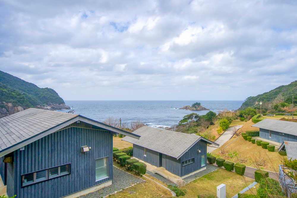 須佐湾エコロジーキャンプ場 ケビン棟からの景色