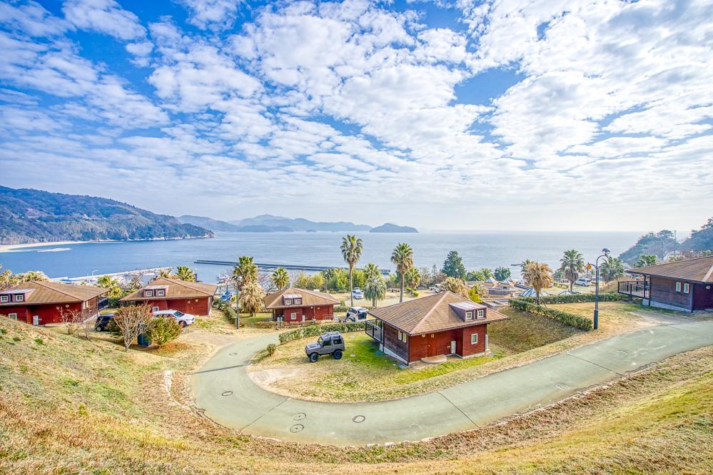 片添ヶ浜海浜公園オートキャンプ場 コテージからの景色
