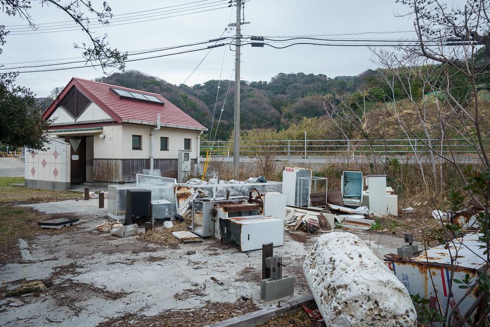 周防大島町青少年旅行村 粗大ゴミ置き場