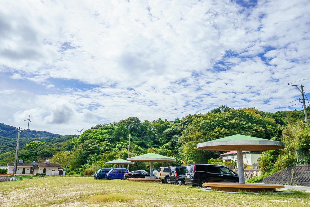 中の浦海水浴場 駐車スペース
