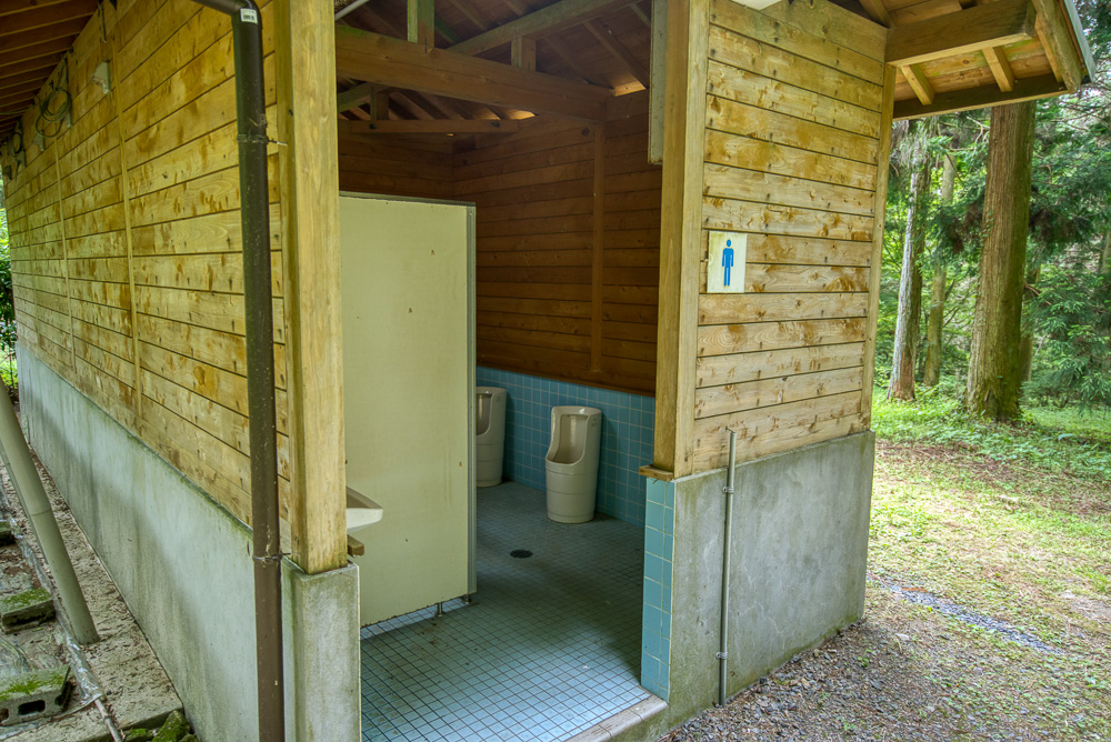 烏帽子岳ウッドパークキャンプ場 トイレ