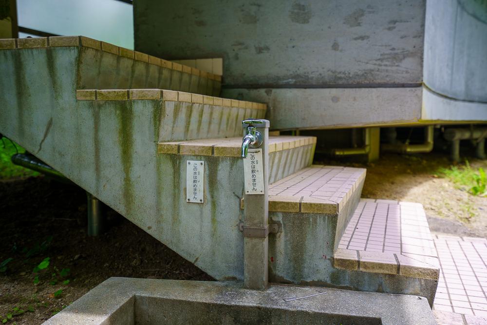 石城山キャンプ場 立水栓
