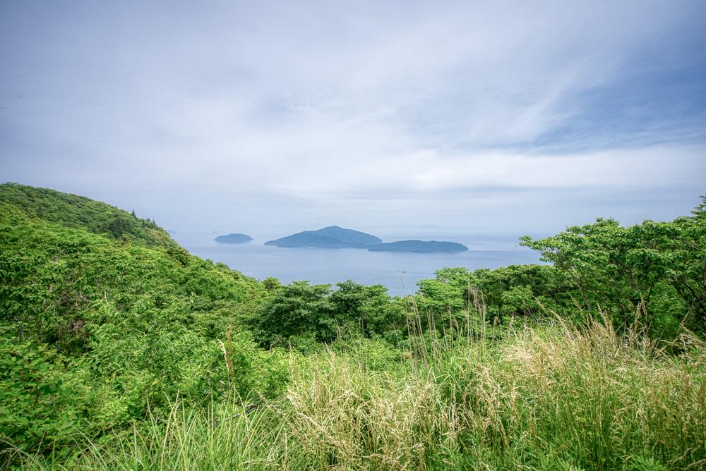 皇座山キャンプ場 サイトからの景色