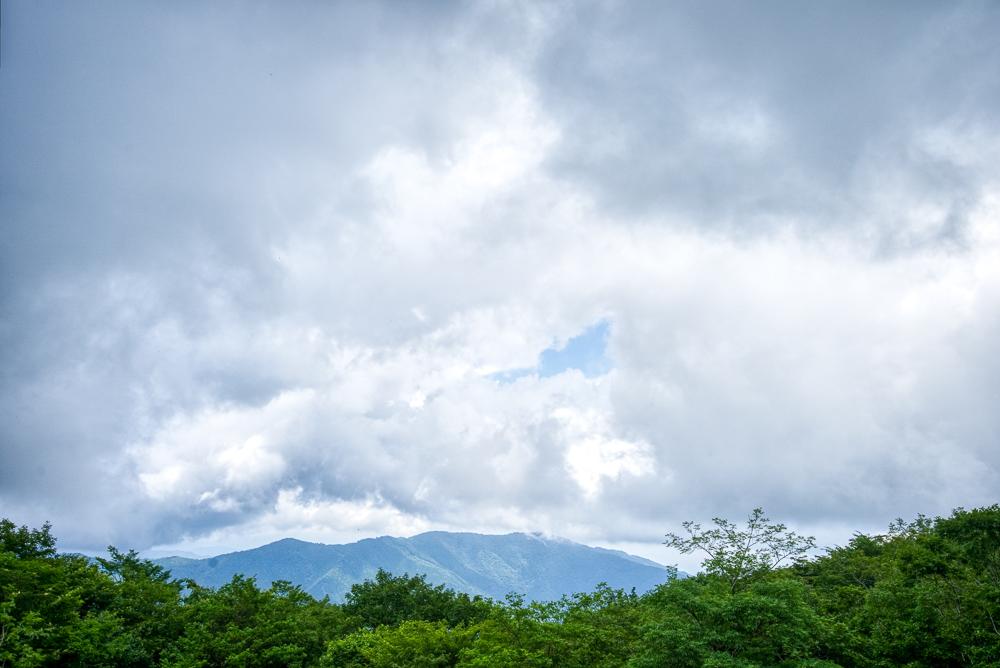 長野山緑地公園 研修棟(トイレ)付近からの景色