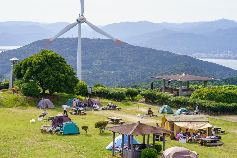 千畳敷高原キャンプ場 風力発電設備