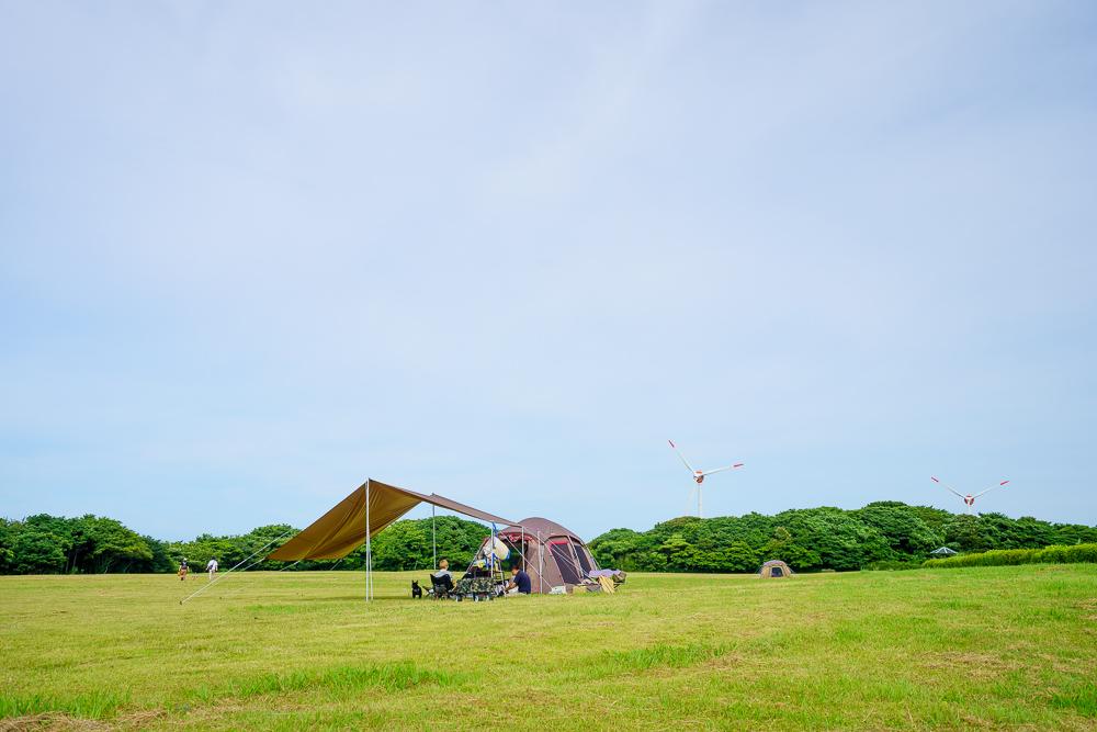 千畳敷高原キャンプ場 駐車場側キャンプサイト