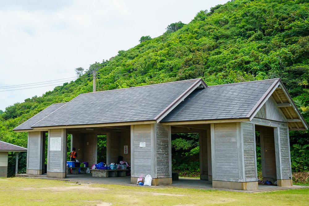 青海島キャンプ村 休憩所