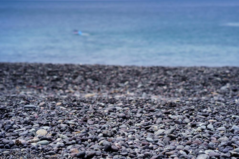 青海島キャンプ村 砂利浜の海岸