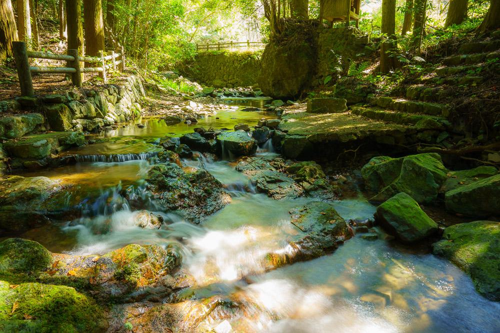 桂木山麓緑地自然公園村キャンプ場 川